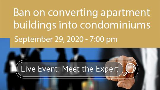 Ban on converting apartment buildings into individual condominiums
