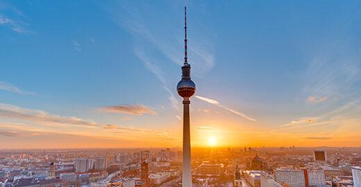 Berlin bei Sonnenuntergang