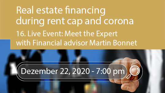 Rent cap and Corona crisis - What are the implications for residential real estate financing?