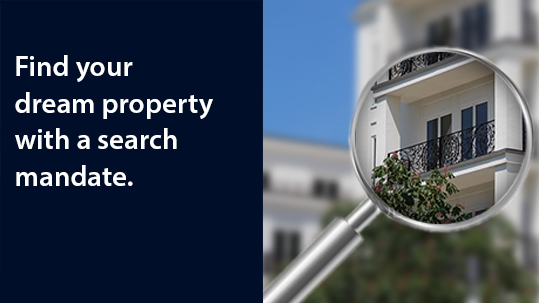 With a search mandate, we will work for you exclusively to find your dream property.